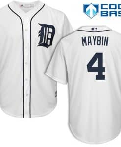Cameron Maybin Detroit Tigers Cool Base Replica Home Jersey