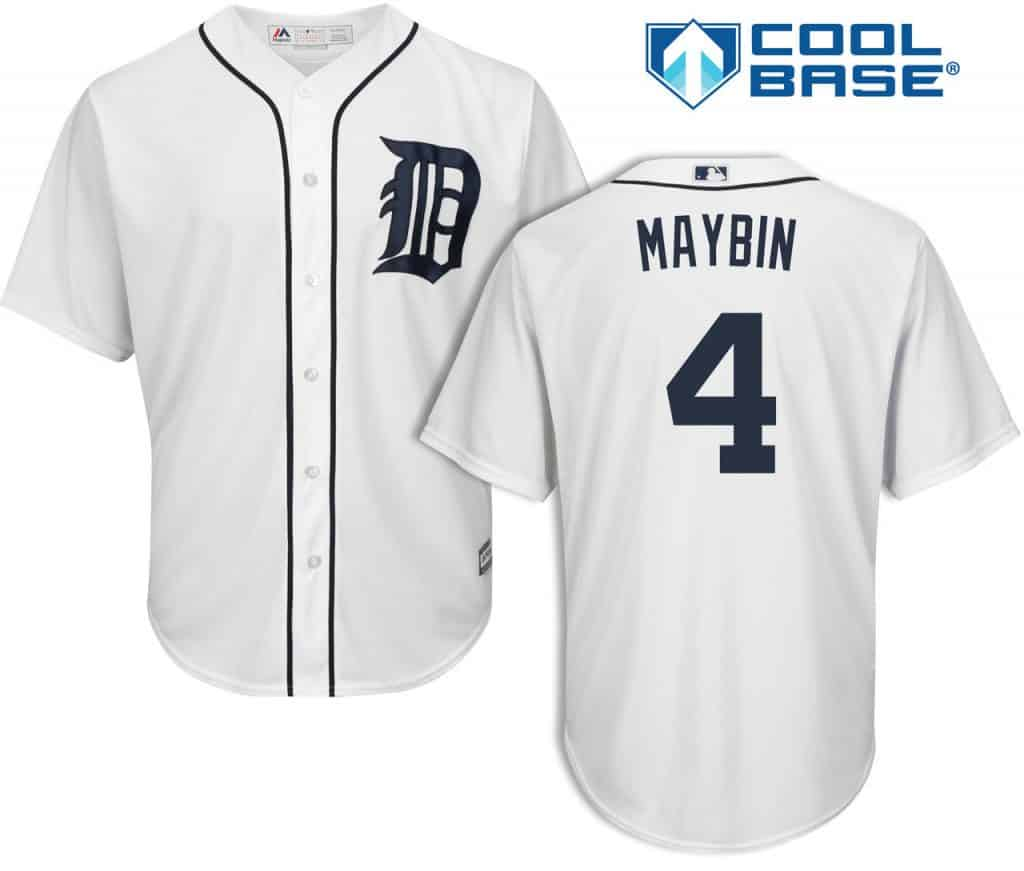 Cameron Maybin Detroit Tigers Cool Base Replica Home Jersey
