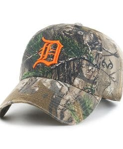 Detroit Tigers 47 Brand Realtree Camo Clean Up Adjustable Hat