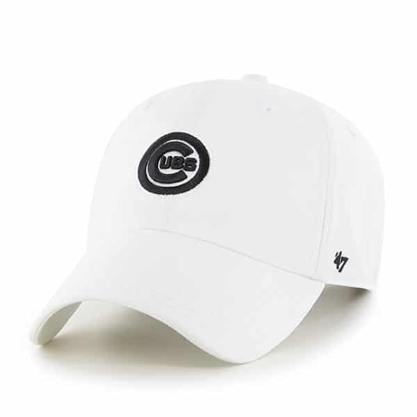 Chicago Cubs 47 Brand Trackster White Clean Up Adjustable Hat