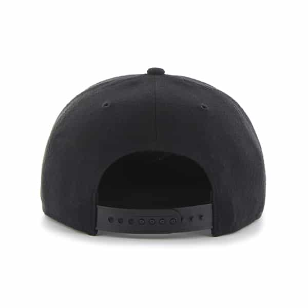 Detroit Tigers All Black Sure Shot Snapback Adjustable Hat Back
