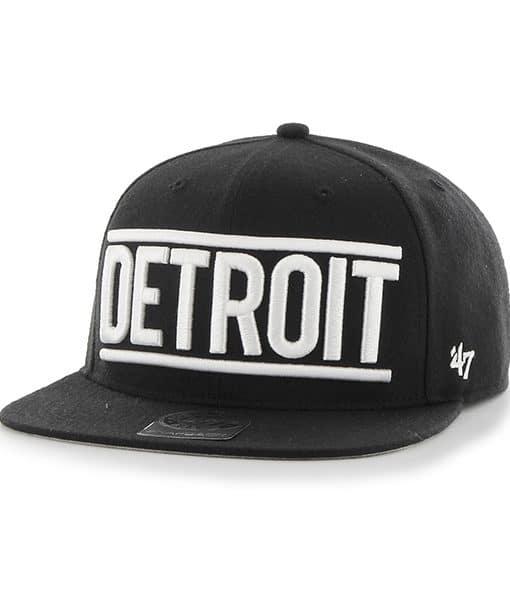 Detroit Tigers Black On Track Snapback Adjustable Hat