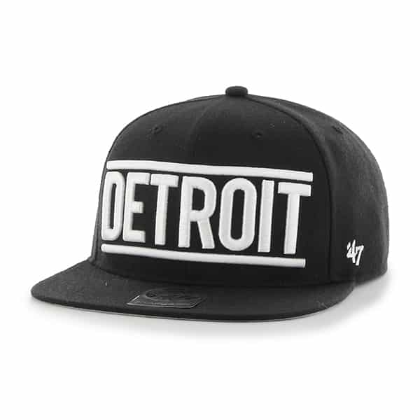 Detroit Tigers Black On Track Snapback Adjustable Hat