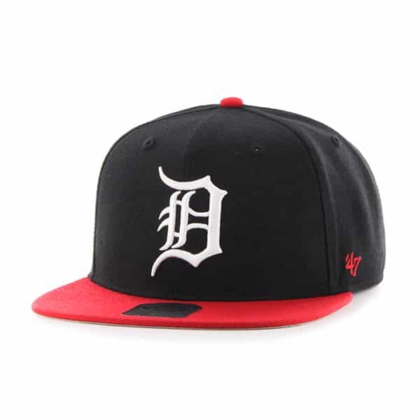 Detroit Tigers Black Red Two Tone Snapback Adjustable Hat
