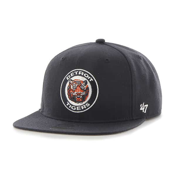 Detroit Tigers 47 Brand Cooperstown Classic Logo Snapback Adjustable Hat