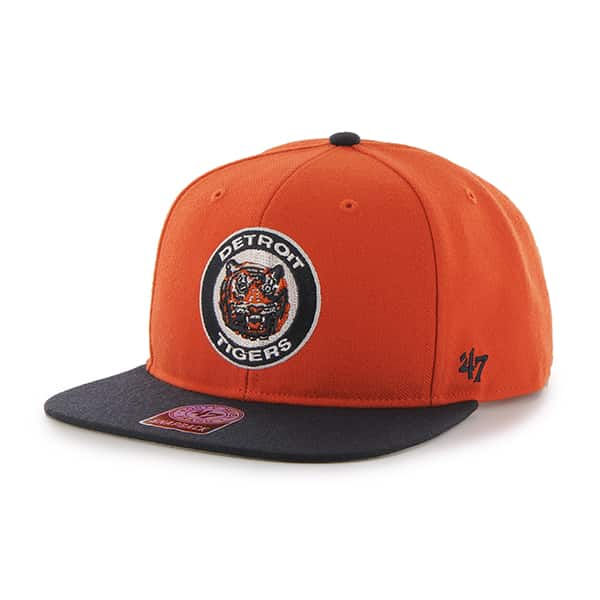 Detroit Tigers Cooperstown Orange Classic Snapback Adjustable Hat