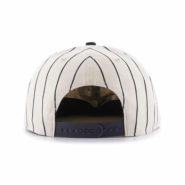 Detroit Tigers Cooperstown Pinstripe Snapback Adjustable Hat Back