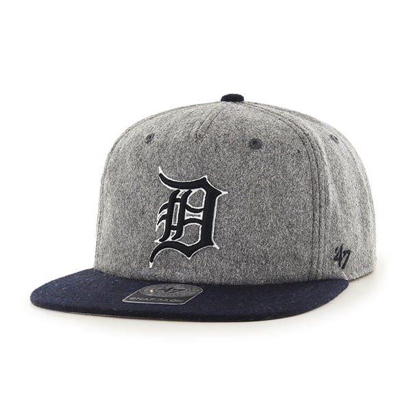 Detroit Tigers Gray Hempstead Snapback Adjustable Hat