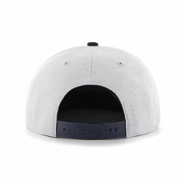 Detroit Tigers Gray Lakeview Snapback Adjustable Hat Back