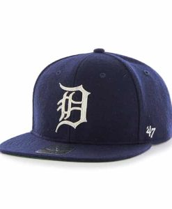 Detroit Tigers Navy Boxcar Snapback Adjustable Hat