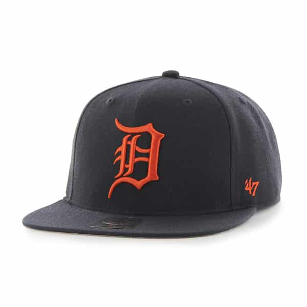 Detroit Tigers Navy Orange Sure Shot Snapback Adjustable Hat