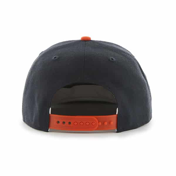 Detroit Tigers Navy Orange Two Tone Snapback Adjustable Hat Back