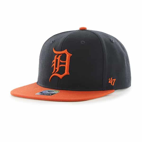 Detroit Tigers Navy Orange Two Tone Snapback Adjustable Hat