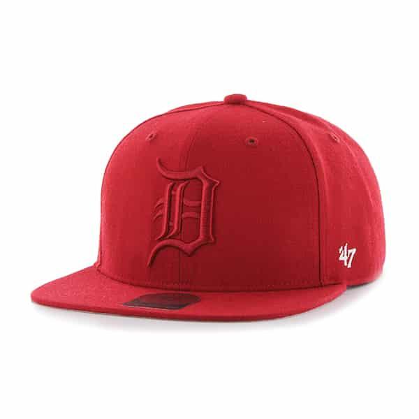 Detroit Tigers Red Sure Shot Snapback Adjustable Hat