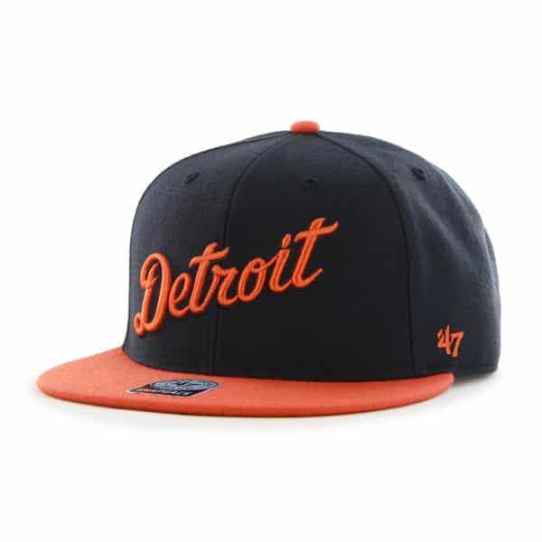 Detroit Tigers Team Script Snapback Adjustable Hat