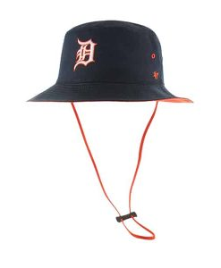 Detroit Tigers 47 Brand Two Color D Kirby Bucket Hat
