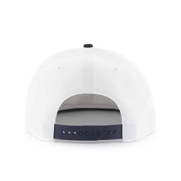 Detroit Tigers White Navy Two Tone Snapback Adjustable Hat Back