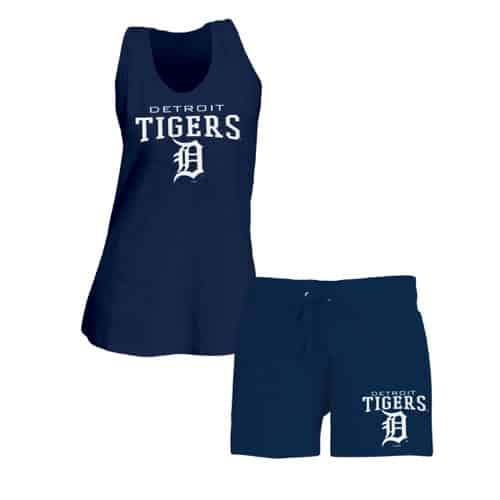 Detroit Tigers Women's Tank Top & Shorts Matching Set
