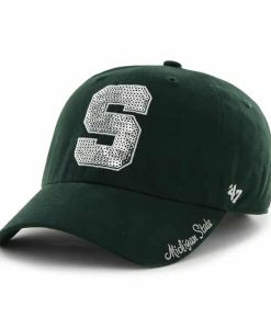 Michigan State Spartans 47 Brand Women's Sparkle Bling Adjustable Hat