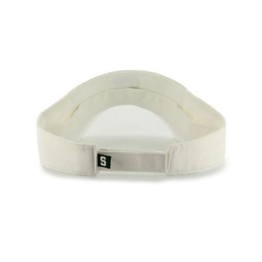 Michigan State Spartans 47 Brand White Clean Up VISOR