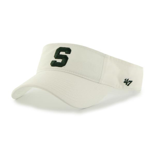 Michigan State Spartans 47 Brand White Clean Up VISOR Adjustable Hat