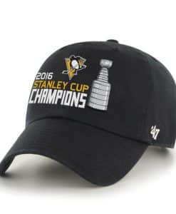 Pittsburgh Penguins 47 Brand 2016 Stanley Cup Champions Clean Up Adjustable Hat