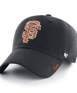 San Francisco Giants Women's 47 Brand Sparkle Black Clean Up Adjustable Hat