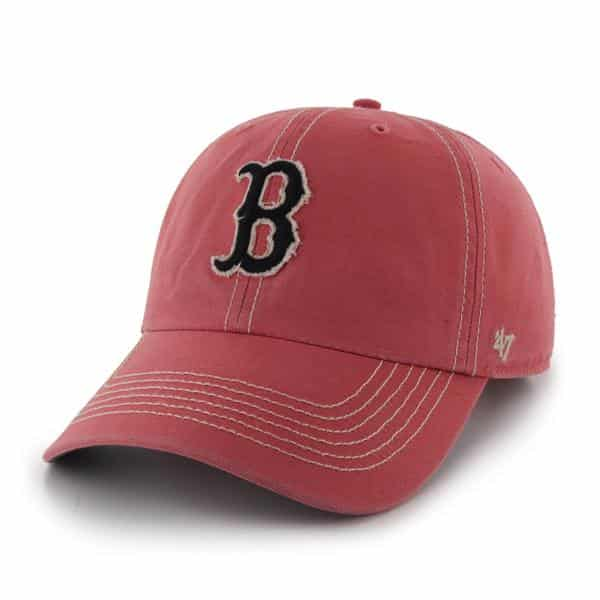 Boston Red Sox Island Red Skiff Clean Up Adjustable Hat