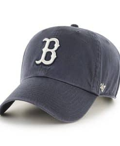 Boston Red Sox 47 Brand Vintage Navy White Logo Clean Up Hat