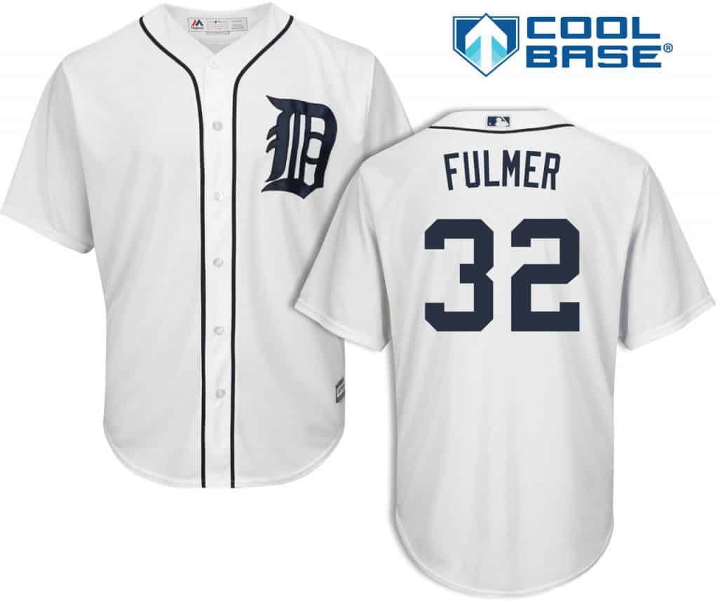 Michael Fulmer Detroit Tigers Cool Base Replica Home Jersey