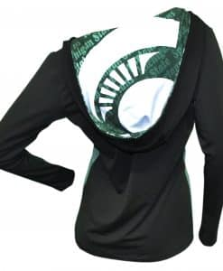 MSU Spartans Ladies Cameo Hoodie Back