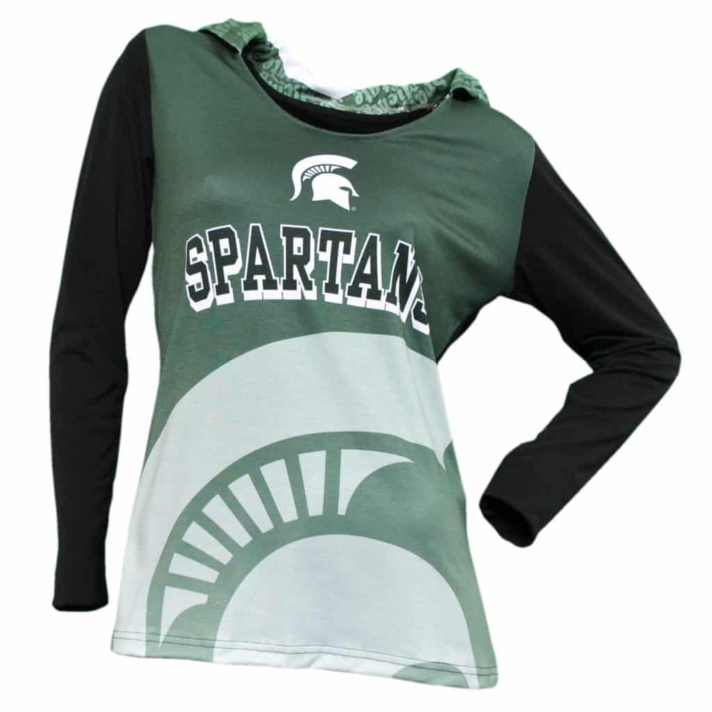 Michigan State Spartans Women's Green Super Comfy Pullover Hoodie