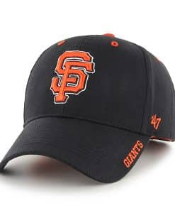 San Francisco Giants 47 Brand Black Frost Adjustable Hat