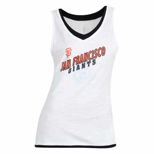 San Francisco Giants Womens White Fusion Tank Top