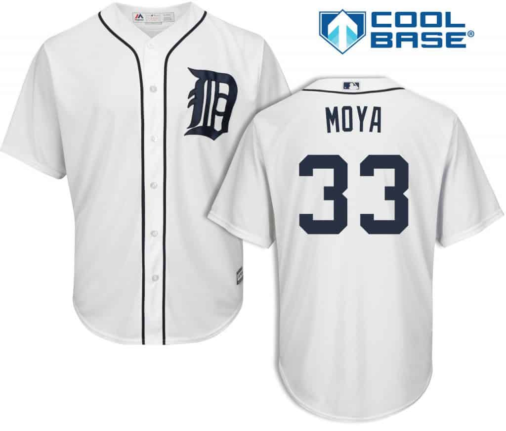 Steven Moya Detroit Tigers Cool Base Replica Home Jersey