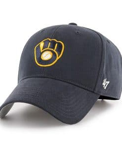 Milwaukee Brewers KIDS 47 Brand Navy MVP Adjustable Hat