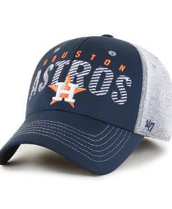 Houston Astros 47 Brand Gray Berwick Contender Stretch Fit Hat