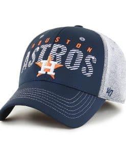 Houston Astros 47 Brand Gray Berwick Contender Stretch Fit Hat
