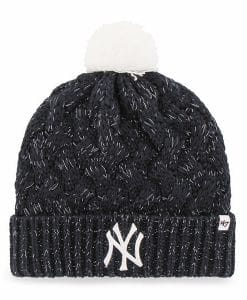 New York Yankees Women's 47 Brand Navy Fiona Cuff Knit Hat
