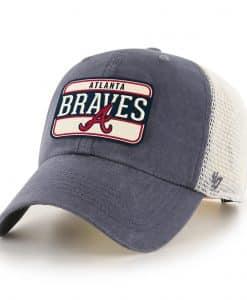 Atlanta Braves 47 Brand Vintage Navy Clean Up Mesh Snapback Hat