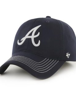 Atlanta Braves 47 Brand Navy Closer Stretch Fit Hat