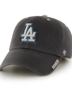 Los Angeles Dodgers 47 Brand Charcoal Ice Clean Up Adjustable Hat