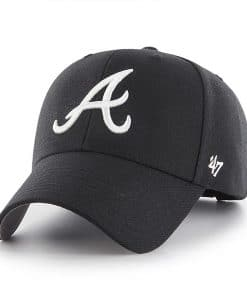 Atlanta Braves 47 Brand Black MVP Adjustable Hat
