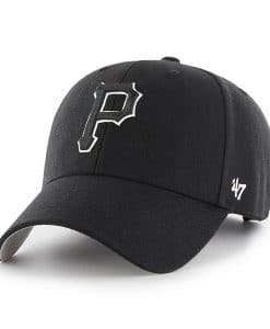 51c37df7bf3f0 Pittsburgh Pirates 47 Brand Black MVP Adjustable Hat