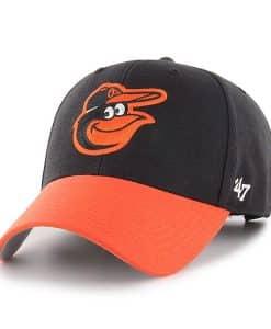 Baltimore Orioles 47 Brand Black Orange MVP Adjustable Hat