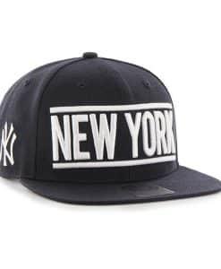 New York Yankees 47 Brand Navy On Track Snapback Adjustable Hat