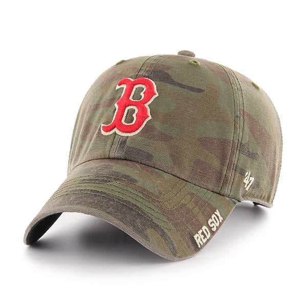 Boston Red Sox 47 Brand Camo Outrigger Clean Up Adjustable Hat