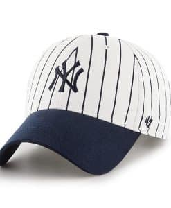 New York Yankees KIDS 47 Brand White Navy Pinstripe Adjustable Hat