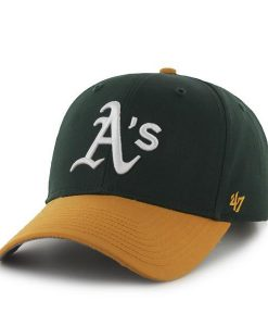 Oakland Athletics 47 Brand Green Yellow MVP Snapback Hat