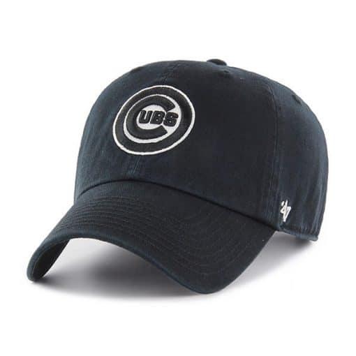 Chicago Cubs 47 Brand Black Clean Up Adjustable Hat